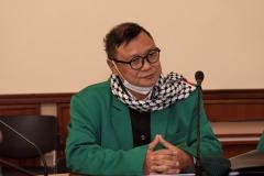 Wakil Direktur Sekolah Pascasarjana UNAS Dr. Firdaus Syam, M.A. saat proses dialog dalam lawatan akademis ke Ukraina pada 15-20 Maret 2021