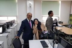Rektor UNAS Dr.Drs. El Amry Bermawi Putera, M.A berfoto bersama dosen UNAS