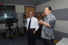 Kunjungan Rektor Unas ke Studio Edu Inkor di Bambu Kuning (2)