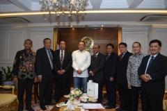 Foto bersama para petinggi UNAS dengan Ketua DPR RI