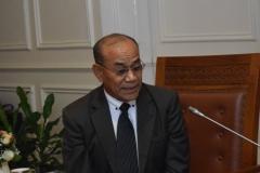 Rektor UNAS sedang memberikan sambutannya