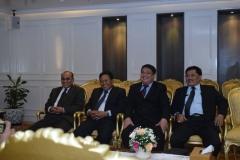 Para petinggi UNAS dalam menghadiri pertemuan dengan Ketua DPR RI