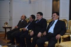 para pimpinan UNAS dalam menghadiri pertemuan dengan ketua DPR