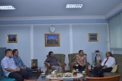 Saat Berbincang-bincang di Ruang Rektorat Universitas Nasional