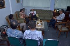 Saat Berbincang-bincang di Ruang Rektorat Universitas Nasional (3)