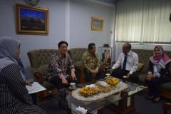Rektor UNAS, direktur dan wadir abanas, dan tamu dari korindo sedang bebincang