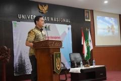 Kepala prodi Ilmu Keperawatan Unas, Ns. Dayan Hisni, S.Kep., M.N.S sedang memberikan sambutannya (2)