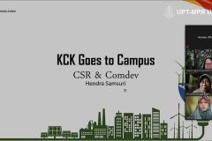Materi CSR & Comdev yang disampaikan oleh pemateri Hendra Samsuri, S.Hut., M.A.