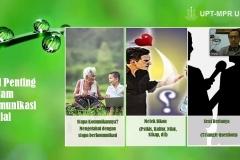 Materi Komunikasi & Relasi Sosial yang disampaikan oleh pemateri Happy Azmi, S.Sos.dalam Pelatihan Dasar Komunikasi & Community Development, di Jakarta, Selasa, (19/5).