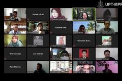Situasi saat Pelatihan Dasar Komunikasi & Community Development di Jakarta, Selasa, (19/5) berlangsung secara virtual