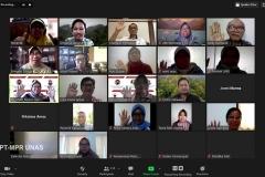 Webinar flora papua yang diselenggarakan Lembaga Penelitian dan Pengabdian Kepada Masyarakat (LPPM) Universitas Nasional pada Rabu, (14/10) di Jakarta.