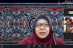 Ketua Lembaga Penelitian dan Pengabdian kepada Masyarakat (LPPM) Universitas Nasional (Unas), Dr. Ir. Nonon Saribanon, M.Si.  saat mengikuti webinar series