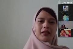 Ketua Program Studi D-IV Kebidanan Dewi Kurniati, SST., M.Keb saat mengikuti Webinar Series : Kontribusi Sains dan Teknologi Dalam Pencegahan dan Penanggulangan Covid-19 di Jakarta, pada Sabtu, 20 Juni 2020