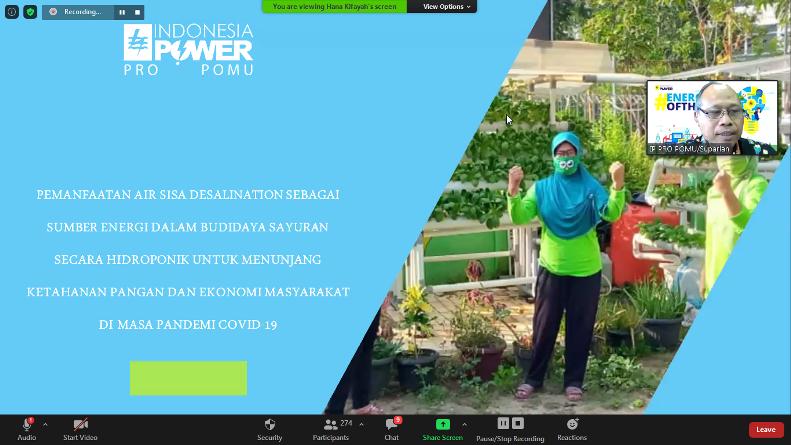 Presentasi materi oleh General Manager PT Indonesia Power Priok POMU Suparlan