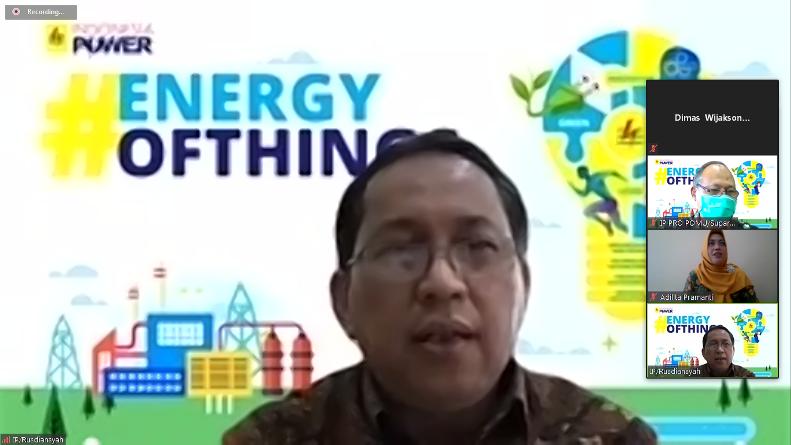 General Manager PT Indonesia Power Saguling POMU Rusdiansyah dalam webinar CSR di situasi pandemi covid-19, Jumat (4/9), di Jakarta.