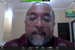 Sangasana L&R Assistant Manager PT.Pertamina EP Asset 5 Sangasanga Field Frans Alexander A. Hutom saat mempresentasikan materinya dalam webinar CSR di situasi pandemi covid-19, Jumat (4/9), di Jakarta.