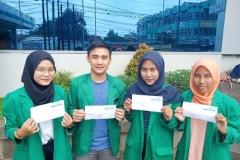 Empat mahasiswa FIKES UNAS mengikuti kegiatan KKN merajut Nusantara II di Kabupaten Sambas, Kalimantan Barat, 11-24 Maret 2019