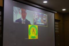 Pelaksanaan MOA secara virtual di Ruang Korean Culture Center UNAS.