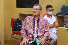 Wakil Rektor Bidang Akademik, Kemahasiswaan dan Alumni Dr. Suryono Efendi, S.E., M.B.A., M.M. dalam sambutannya dalam kegiatan  MOA Prodi Akuntansi di  Ruang Korean Culture Center UNAS.