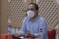 Tim Pokja ICT Belmawa Aziz Boing S. pada pelaksanaan Monitoring & Evaluasi Implementasi Bantuan Pemerintah Program Kredit Transfer Internasional 2021