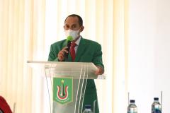 Pembacaan doa dari Wakil Dekan Bidang Kemahasiswaan dan Administrasi UmumFISIP Unas Aos Yuli Firdaus, S.I.P., M.Si.