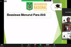 Penyampaian materi oleh Manajer UPT-MPR UNAS Marsudi, S.P.