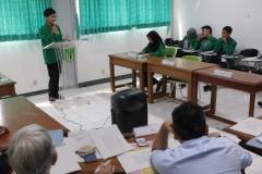 Saat acara debat Kompetisi Debat Mahasiswa Indonesia (KDMI) 2019 berlangsung