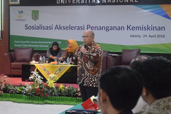 P5M Universitas Nasional Kerjasama dengan Kementerian Sosial RI Adakan Seminar Akselerasi Penanganan Kemiskinan (27)