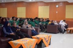 para dosen dan mahasiswa dilingkungan FISIP UNAS dalam acara pelantikan himpunan
