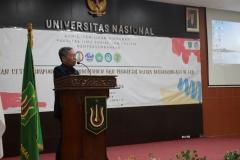 pembacaan surat keputusan oleh Kaprodi Hubungan Internasional, Drs. Reuspatyono