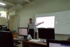 Materi pelatihan diberikan oleh Kepala Bidang Internal dan Eksternal Service Badan Pengelola Sistem Informasi Universitas Nasional,  Sutikman, S.T., M.Kom