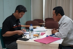 proses wawancara yang dilakukan oleh tim dari Lemba Sertifikasi Profesi Tenaga Teknik Indonesia (LSP-TTI)
