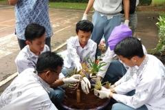 Pelatihan Pengolahan Komposting Limbah Organik di SMAN 34 Bagi Siswa yang  tergabung dalam Kelompok Gerakan Cinta Lingkungan (G