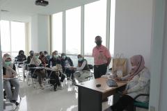 Diskusi post test pada hari terakhir pelatihan CWCCA