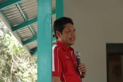 Ir. Abdul Wahab Bangkona, MA. memberikan sambuntan