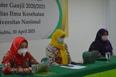 Pembukaan kegiatan pelepasan wisudawan Fakultas Ilmu Kesehatan Semester Ganjil 2020/2021 di Menara II Unas, Ragunan.