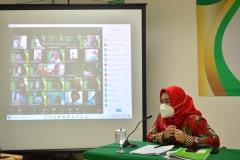 Pelepasan Wisudawan Fakultas Ilmu Kesehatan Semester Ganjil 2020/2021 di Menara II Unas, Ragunan.