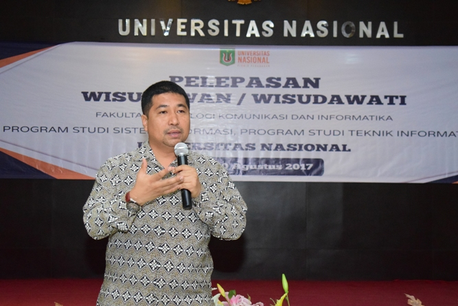 Dr. Iskandar Fitri dalam sambutan acara pelepasan FTKI