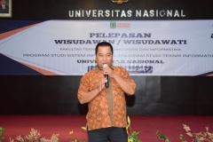bapak Yatno selaku kepala tata usaha FTKI dalam sambutannya