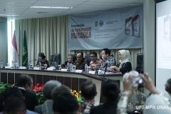 Peluncuran Buku Sistem Demokrasi Pancasila di Ruang Seminar Menara 1 Unas, Rabu (11/3)