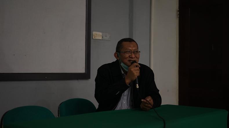 Sambutan oleh Wakil Rektor Bidang Akademik, Kemahasiswaan dan Alumni Dr. Suryono Efendi, S.E., M.B.A., M.M. dalam kegiatan