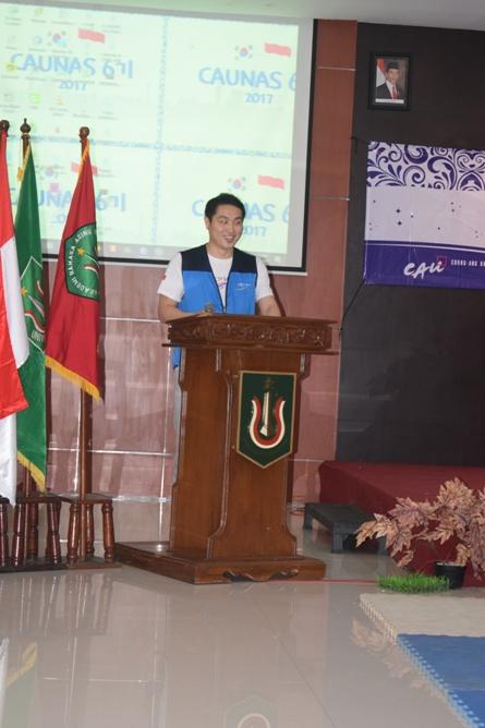 Unas_ delegasi korea saat membuka acara