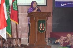Unas_ Direktur Abanas Dra. Rurani Adinda, M.Ed saat memberikan sambutan