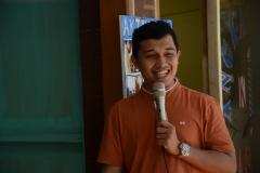 CEO Bank Mahasiswa Indonesia Rizki Adam Saat memberi sambutan