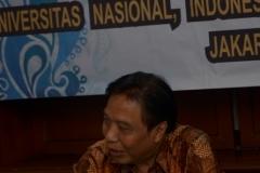 J. Sugarjito, Ph.D ( Direktur Kantor Kerjasama Internasional Universitas Nasional)