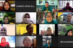 Penandatanganan MoA FEB Universitas Nasional dan FEB Universitas Lampung dalam kerjasama implementasi MBKM pada hari Kamis, 26 Agustus 2021