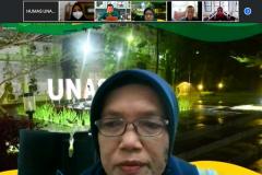 Wakil Dekan FEB UNASDr.RahayuLestari, S.E., M.M., dalam acara Penandatanganan MoA FEB Universitas Nasional dan FEB Universitas Lampung dalam kerjasama implementasi MBKM pada hari Kamis, 26 Agustus 2021
