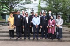 Foto bersama Pimpinan Unas dan Pimpinan Universitas Narotama di Unas, pasar minggu 16 Juni 2021