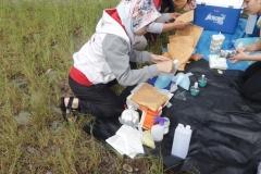 Proses  ekstraksi jamur oleh mahasiswa