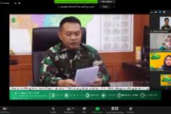 Pemutaran video sambutan dari  anglima Komando Daerah Militer (Pangdam) Jaya/Jayakarta, Mayor Jenderal TNI Dudung Abdurachman saat pembukaan kegiatan PLBA secara virtual